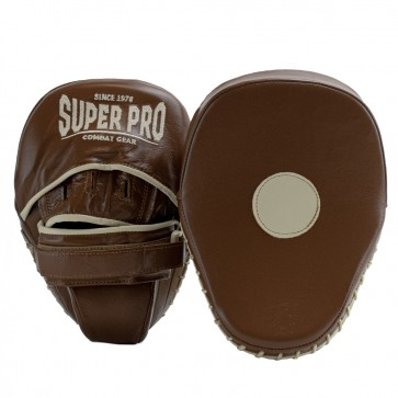 Super Pro Gebogen Vintage Hook and Jab Pad Leder