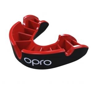 OPRO Gebitsbeschermer Self-Fit Silver Zwart/Rood