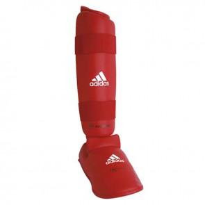 adidas WKF Scheenbeschermer met Verwijderbare Voet Rood