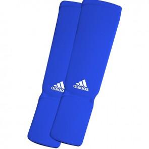 adidas elastische scheen/wreefbeschermers blauw