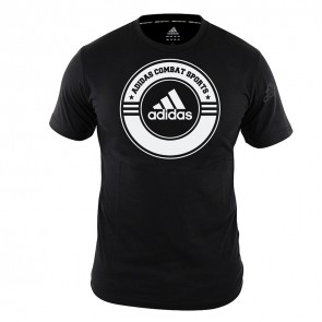 adidas T-Shirt Combat Sports Zwart/Wit