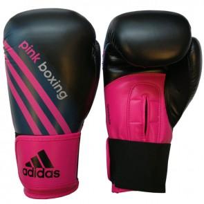 adidas Speed 100 (Kick)Bokshandschoenen Zwart/Shock Pink PinkBoxing 12 oz (Handschoenen)