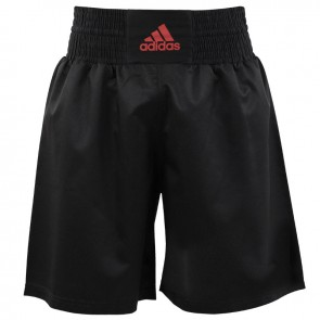 adidas Multi Boxing Short Zwart/Shock Red