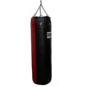 Super Pro Leather Punch Bag Gigantor Zwart/Rood 138x42 cm