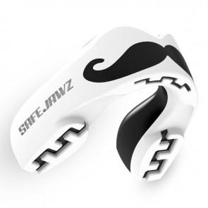 Safejawz Gebitsbeschermer Extro-Series Moustache Wit/Zwart
