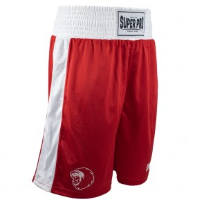 Super Pro Combat Gear Club Boksshort Rood/Wit