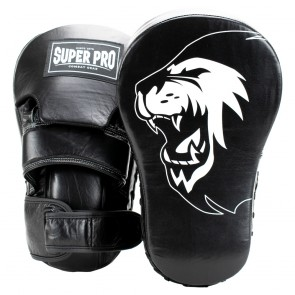 Super Pro Combat Gear Handmitts Long Curved Leder