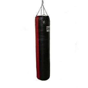 Super Pro Leather Punch Bag Split Zwart/Rood 152x35 cm