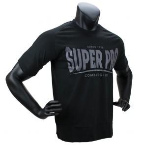Super Pro T-Shirt S.P. Logo Zwart/Grijs