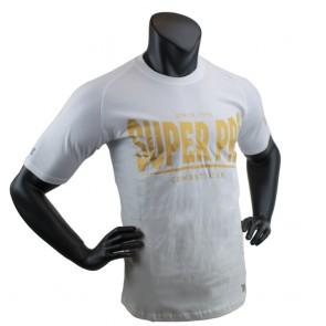 Super Pro T-Shirt S.P. Logo Wit/Goud