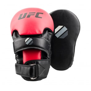 UFC Contender Long Curved Focus Handpads Zwart/Rood