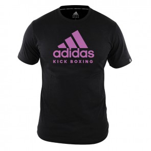 adidas T-Shirt Kickboxing Community Dames Zwart/Roze