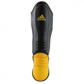 adidas Hybrid Super Pro Scheenbeschermer Zwart/Geel