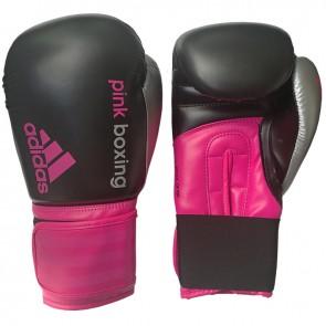 adidas Dynamic Fit (Kick)Bokshandschoenen Zwart/Roze PinkBoxing 12oz