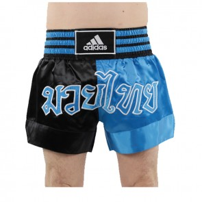 adidas Thaiboksshort Half/Half Zwart/Blauw